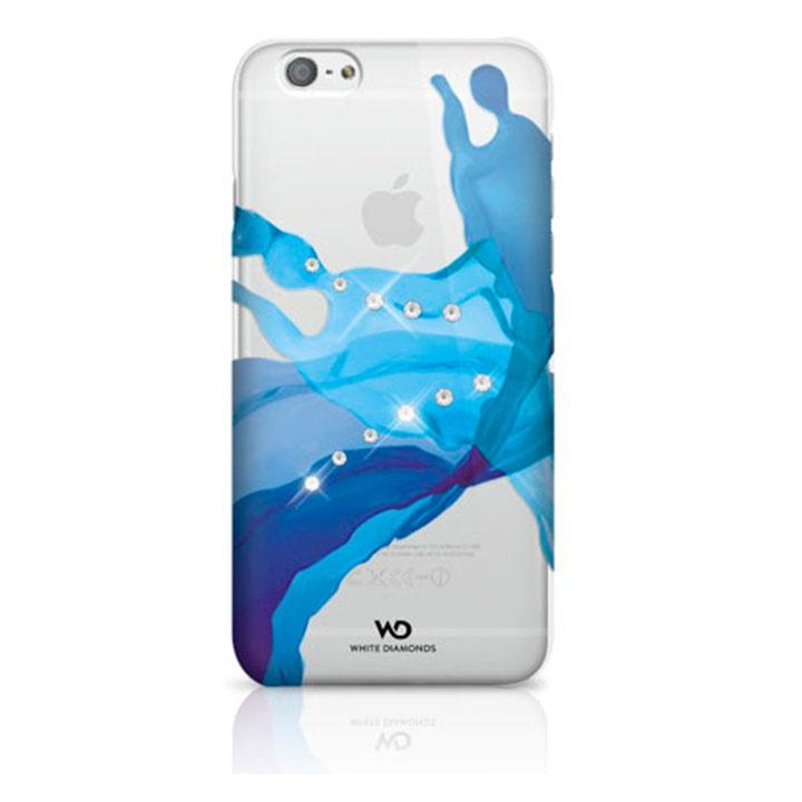 White Diamond Θήκη Crystal Liquid για iPhone 6/6S - Μπλε - - 1310LIQ44