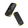 """BLAUPUNKT SAND Αδιάβροχο και ανθεκτικό Κινητό τηλέφωνο με κάμερα 1,2 MP με flash και LCD οθόνη 2,8"""" - Κίτρινο - - BLFS04BLKSIL"""