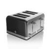 Swan Retro 4 Slice Toaster - Μαύρο - - SH60010GN