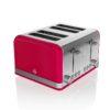 Swan Retro 4 Slice Red Toaster - Κόκκινο - - SWKA4500BLN