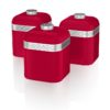Swan Retro Set of 3 Canisters - Κόκκινο - - SWPS3020GN