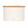 Swan Bread Bin with Wooden Lid - Άσπρο -  - SWKA17513GRYN