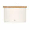 Swan Bread Bin with Wooden Lid - Άσπρο - - SWKA17513GRYN