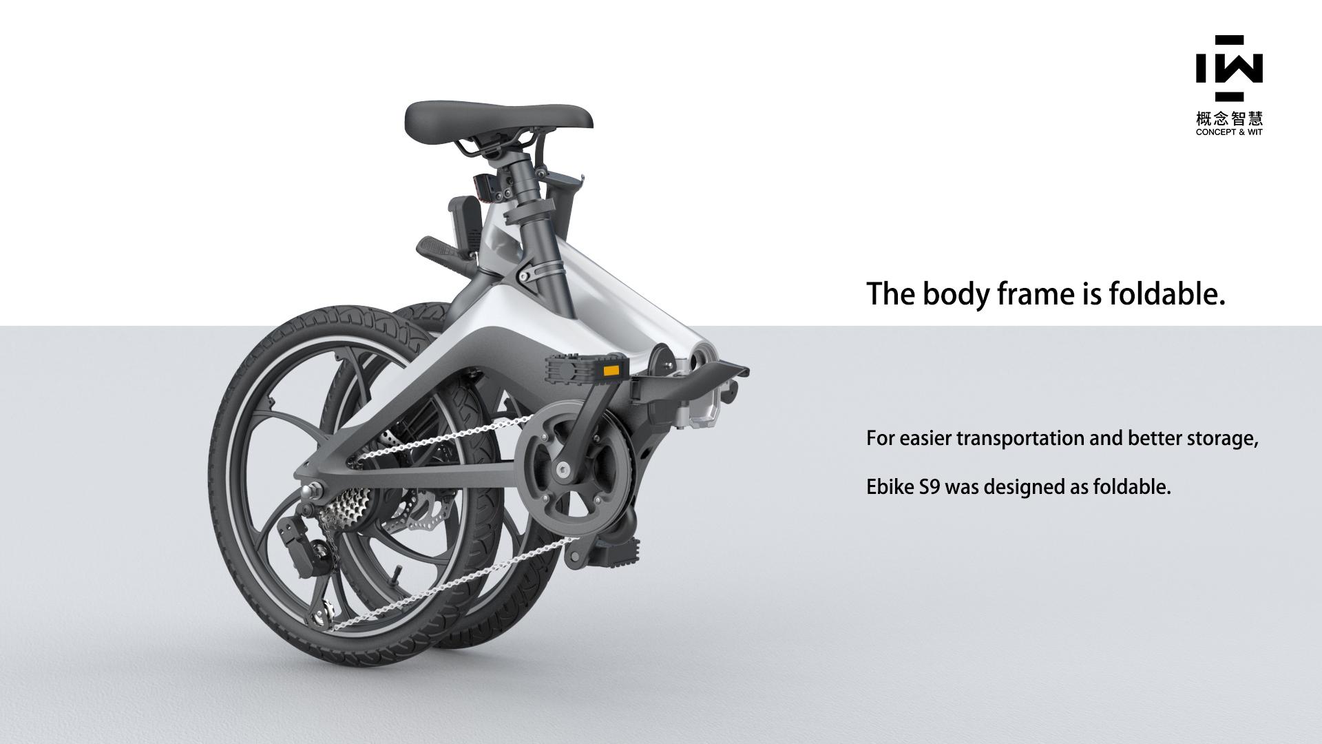 Onebot e-bike S9 - Άσπρο - - S9WHT