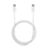 "Puro TPE ""Plain"" Type-C Cable 2.0 to Type-C 2.0 - Άσπρο - - CUSBCFABK2SPGREY"
