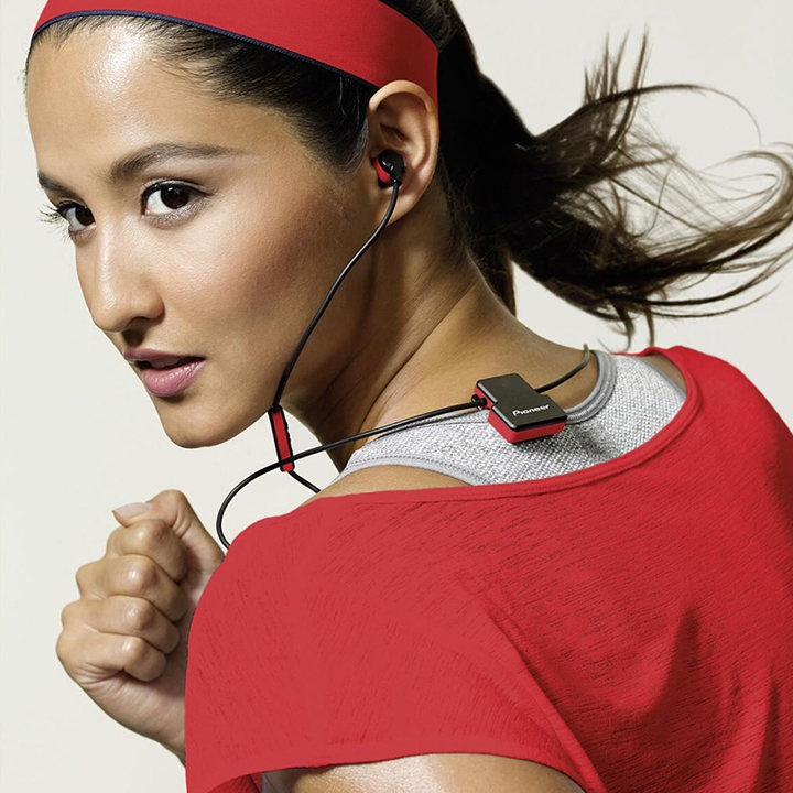 Pioneer SE-CL5BT Wireless Headphones - Mαύρο Κόκκινο - - SE-CL5BT-R
