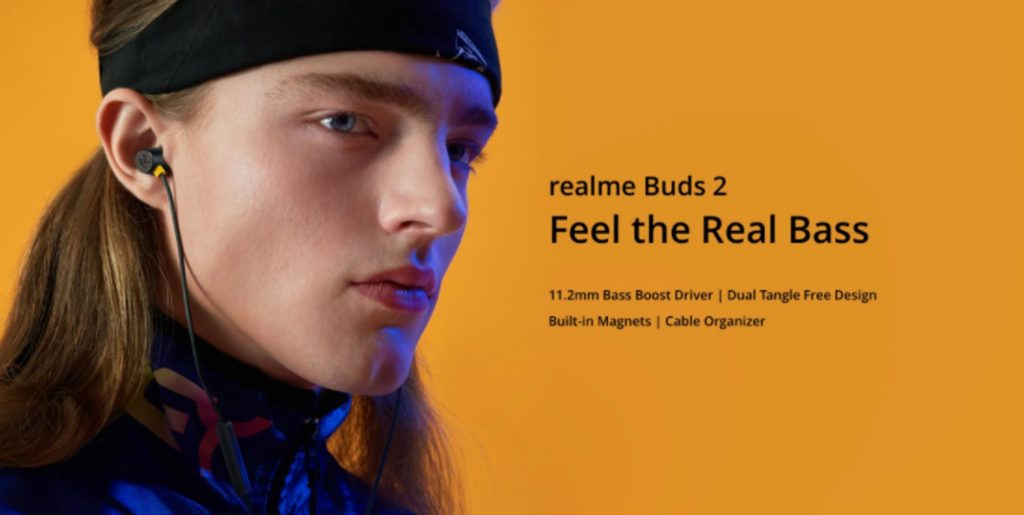 Realme Wired Earbuds-2 - Μαύρο - - RMA155BLK