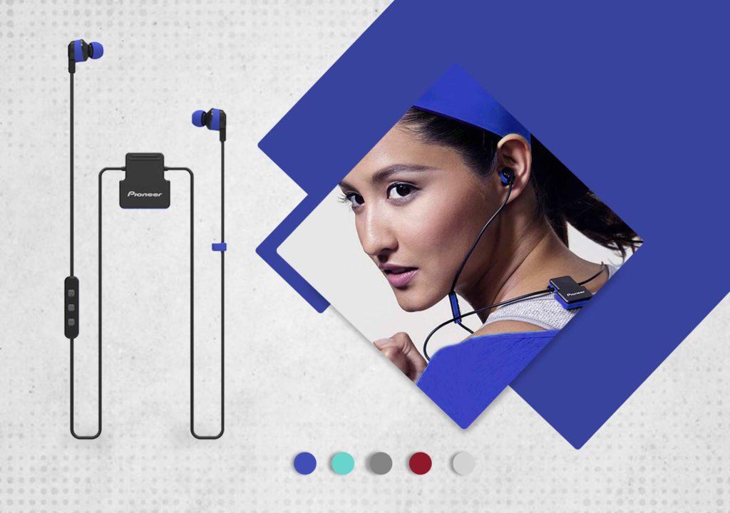 Pioneer SE-CL5BT Wireless Headphones - Mπλε - - SE-CL5BT-L