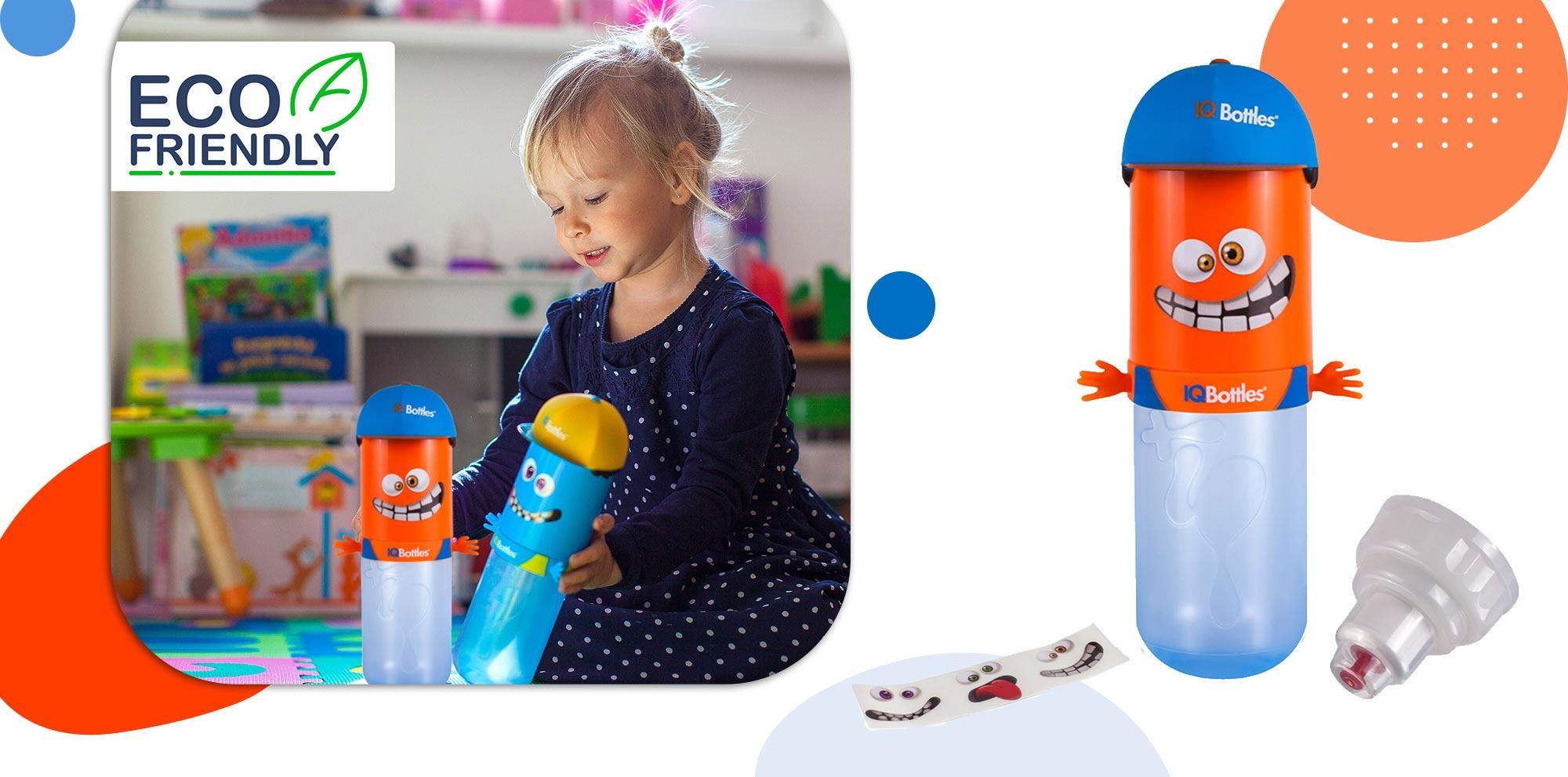 IQBottle Παιδικό Παγούρι 500ml - Orange HomeBoy - - IQBottleHomeboyOrange