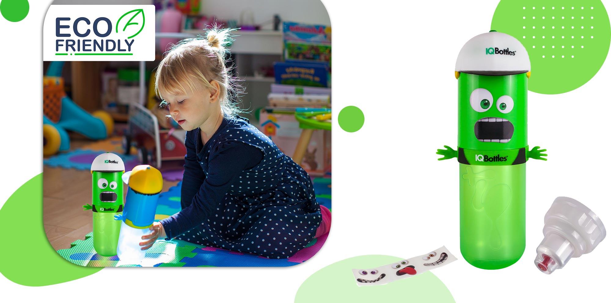 IQBottle Παιδικό Παγούρι 500ml- Green HomeBoy -  - IQBottleHomeboyGreen