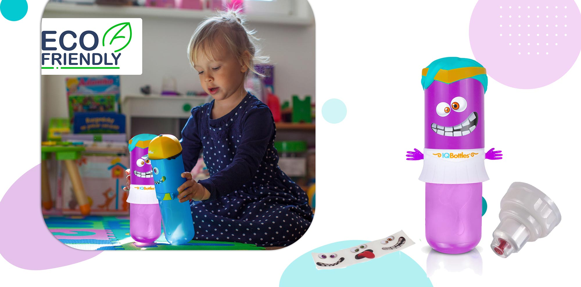 IQBottle Παιδικό Παγούρι 500ml - Violet Amazonas - - IQBottlePrincessPurple