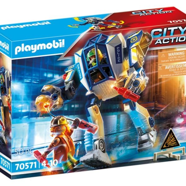Playmobil Αστυνομικό ρομπότ και ληστής