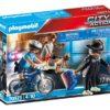 Playmobil Αστυνομικός με ποδήλατο και πορτοφολάς
