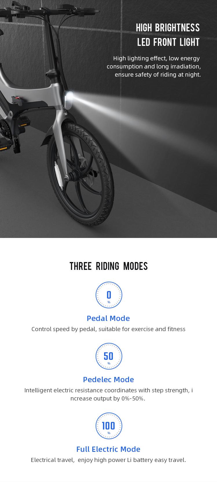 Onebot e-bike S6L - Ασημί -  - S6LSILVER