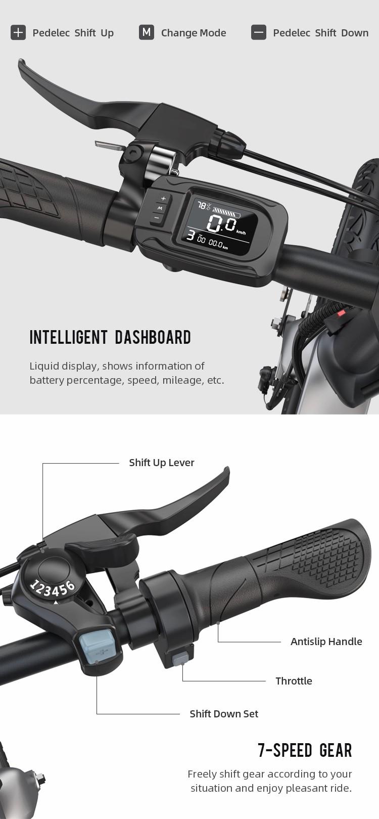 Onebot e-bike S6L - Πορτοκαλί -  - S6LORANGE