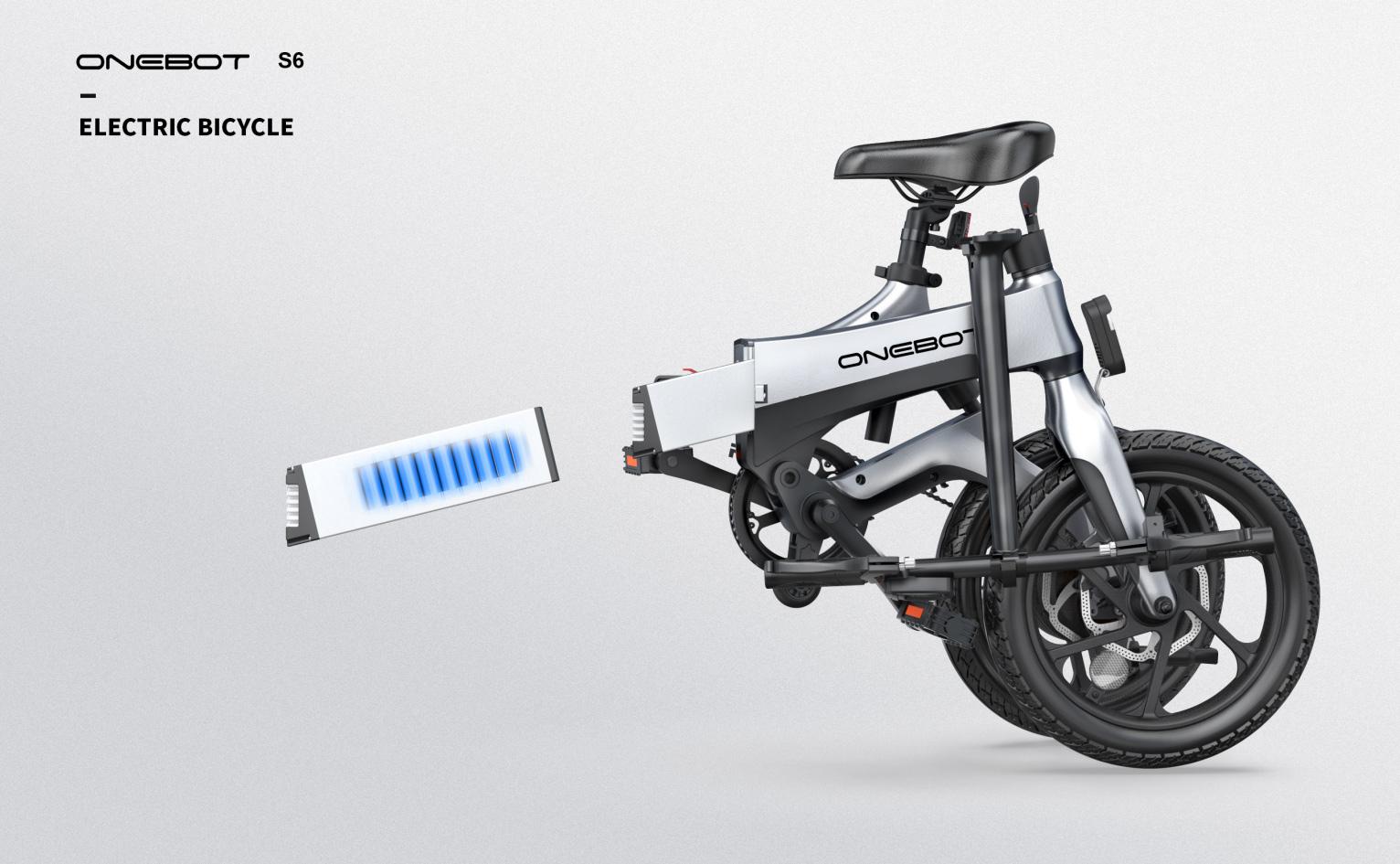 Onebot e-bike S6 - Mαύρο - - S6BBLK