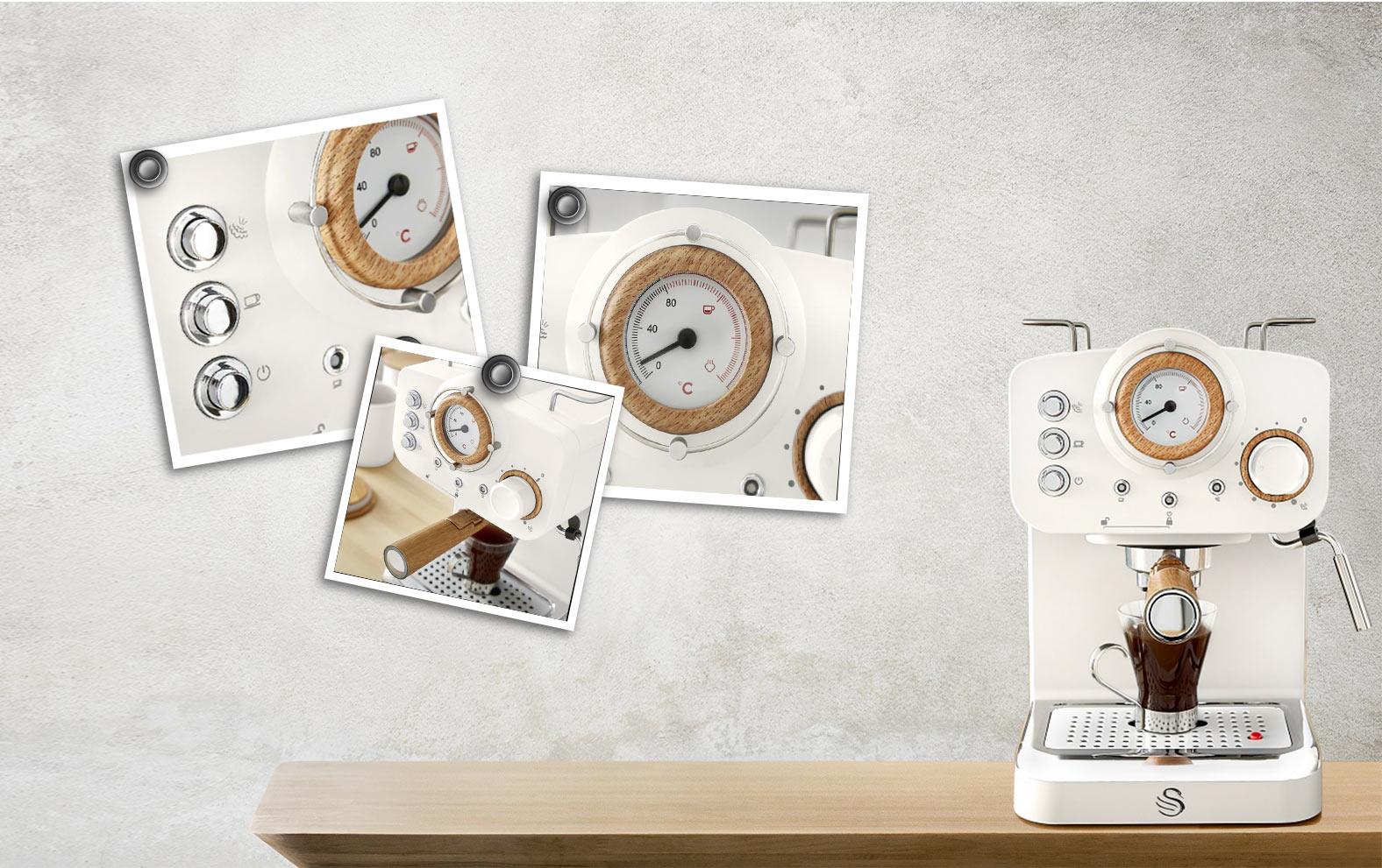 Swan Pump Espresso Coffee Machine - Άσπρο - - SK22110WHTN