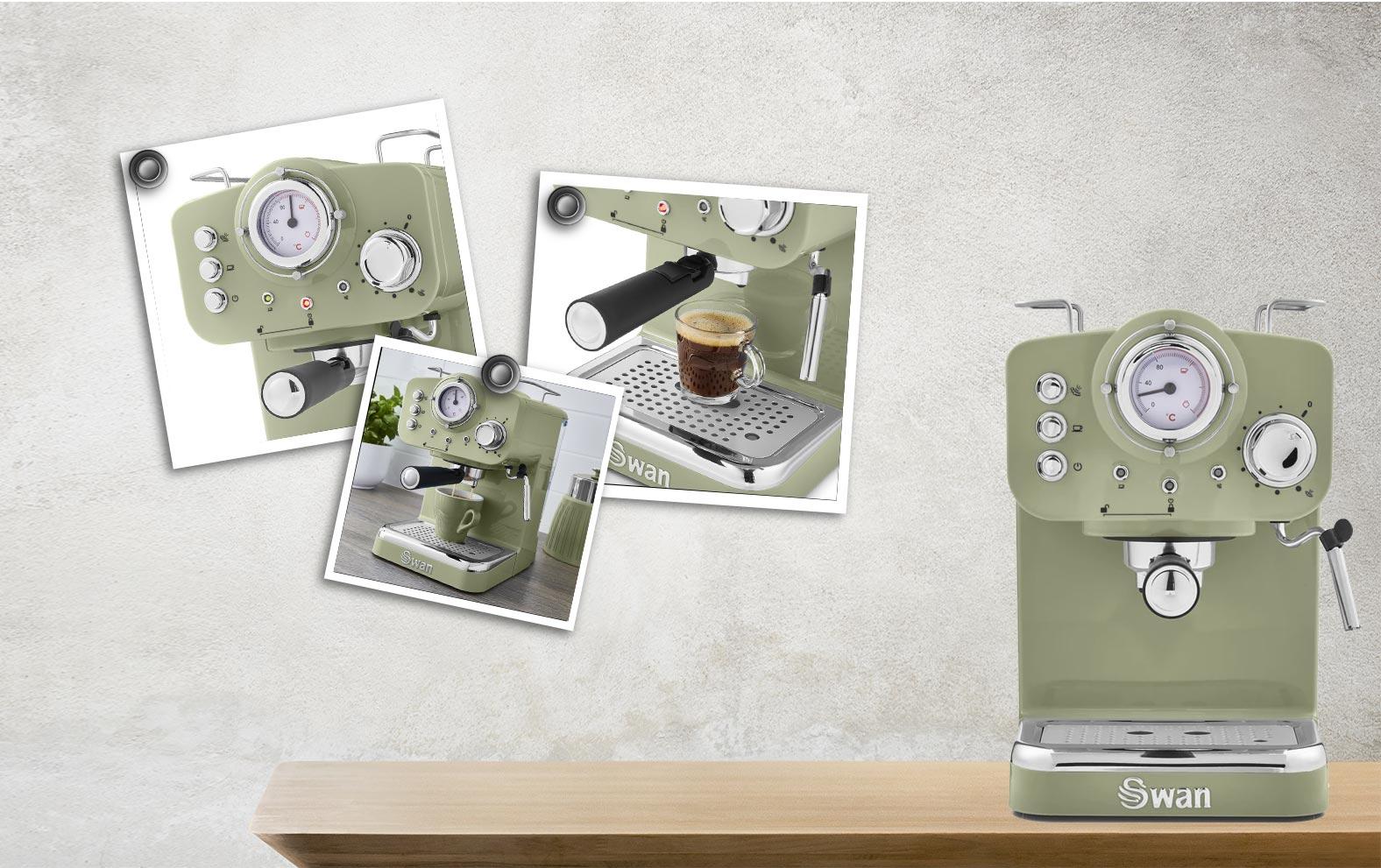 Swan Pump Espresso Coffee Machine - Πράσινο - - SK22110GN