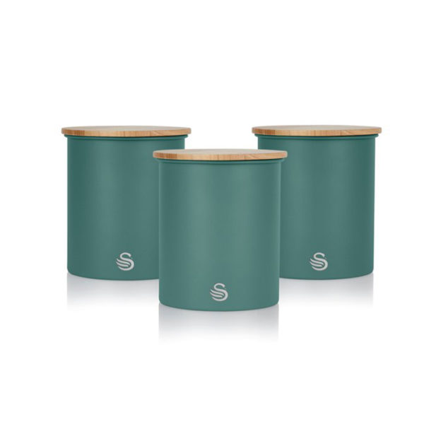 Swan Nordic Set of 3 Canisters - Πράσινο