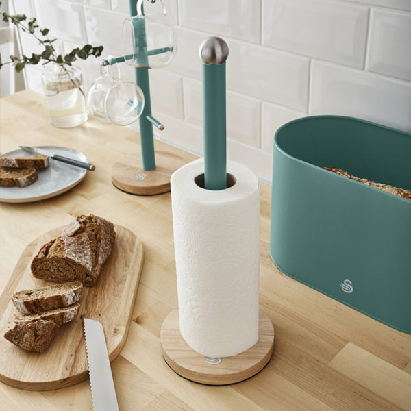 intellizen_Nordic_Towel_Pole_with_Wooden_Base
