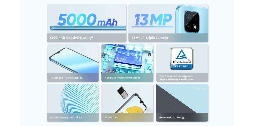 Realme C21 (RMX3201 3/32GB) - Cross Black - - RMX3201-32BLK