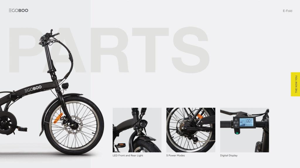 EGOBOO E-Bike E-Fold - Άσπρο - - MX25-WHITE