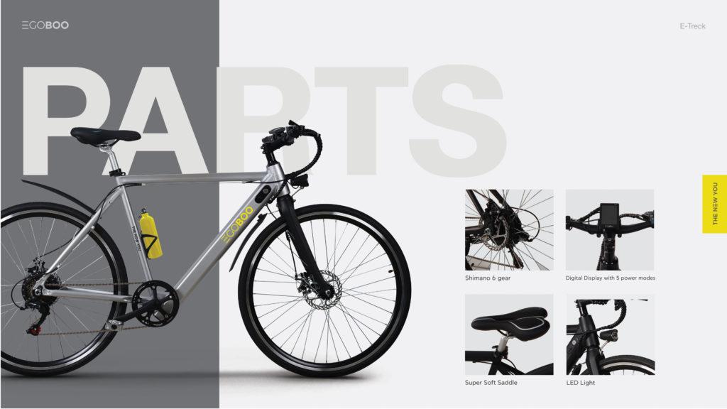 EGOBOO E-Bike E-Treck - Aσημί - - W6-GREY