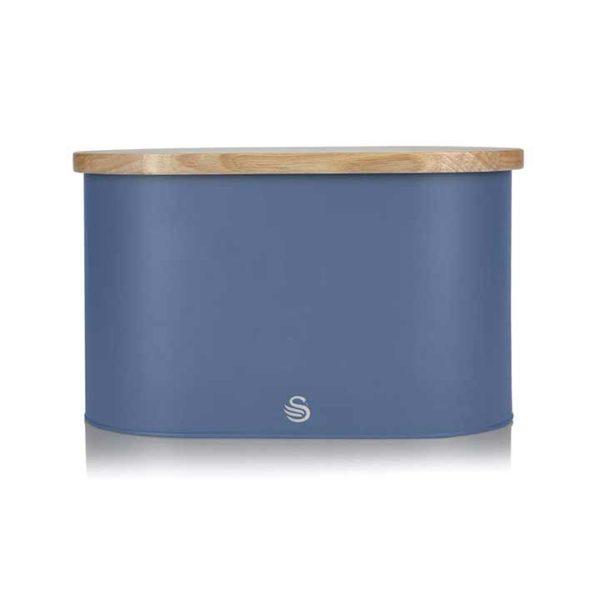 intellizen_swan_Nordic-Bread-Bin-with-Wooden-Lid-blue_3